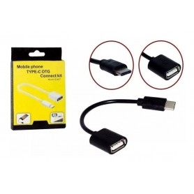 Cabo Adaptador USB Tipo C Macho para USB OTG 3.1 Fêmea