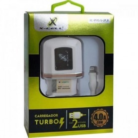 Carregador De Celular Ultra Rápido Turbo 4.0A+2Usb iPhone