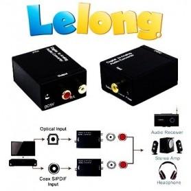 Adaptador Conversor Óptico Digital p/ RCA - LELONG LE-4126