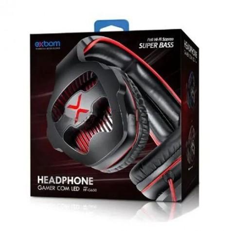 Fone de Ouvido Headphone Gamer com Led - Exbom