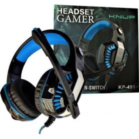 Fone De Ouvido Headset Gamer Knup Kp-491 Sound Effect