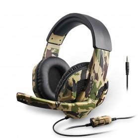Fone De Ouvido Headset Gamer Camuflado 5 Em 1